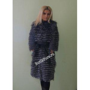 Пальто из чернобурки на кашемире арт. 3205