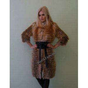 Пальто из лисы на кашемире арт. 3206